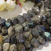 Материалы для творчества handmade. Livemaster - original item Labradorite beads faceted natural stones. PCs. Handmade.