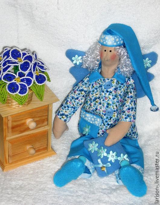 Куклы Тильды ручной работы. Ярмарка Мастеров - ручная работа. Купить Тильда-сллюшка. Handmade. Голубой, подарок, искусственные волосы