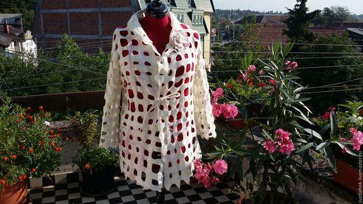 Пиджаки, жакеты ручной работы. Ярмарка Мастеров - ручная работа. Купить Валяный жакет Для нежного времени года. Handmade.