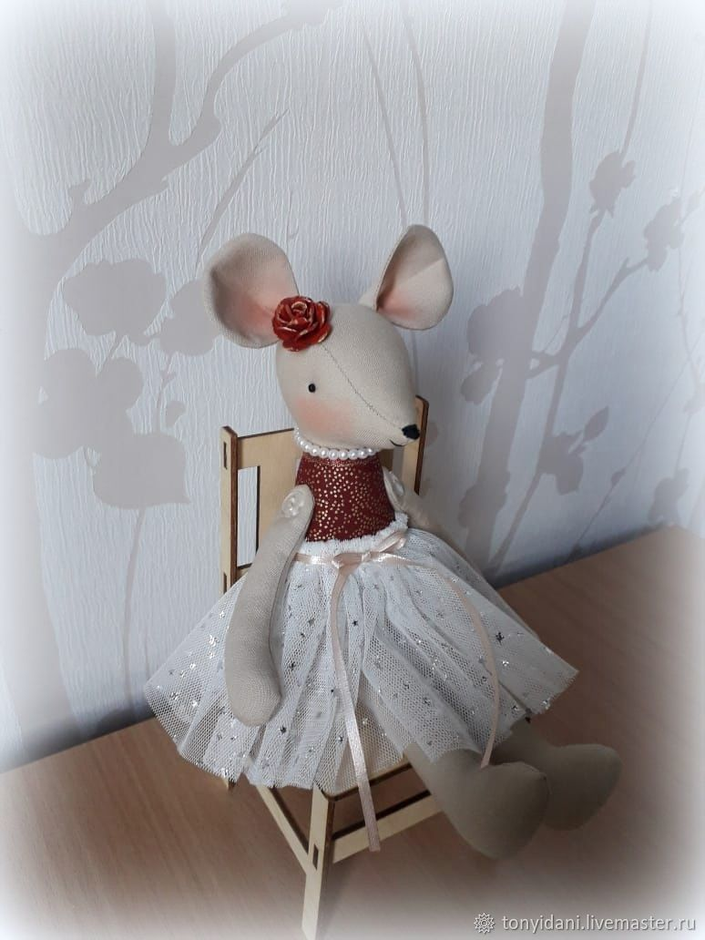 Мышка текстильная Шуршуля, Декор в стиле Тильда, Новоуральск,  Фото №1