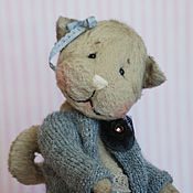 Куклы и игрушки ручной работы. Ярмарка Мастеров - ручная работа Кошка тедди Вислоухая. Handmade.