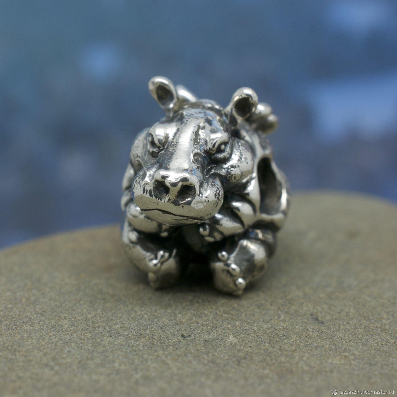 All for Jewelry Making handmade. Livemaster - handmade. Buy Hippo-midge charm.Charm, hippo