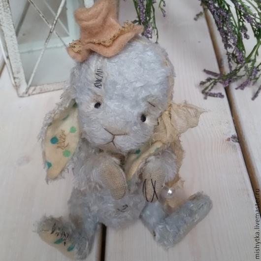 Мишки Тедди ручной работы. Ярмарка Мастеров - ручная работа. Купить Зайчонок. Handmade. Голубой, подарок на любой случай, хлопок