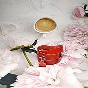Украшения handmade. Livemaster - original item Lace bracelet: Scarlet. Handmade.