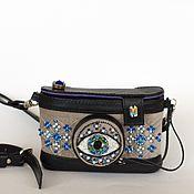Классическая сумка ручной работы. Ярмарка Мастеров - ручная работа ФотоОко сумка - фотоаппарат Swarovski. Handmade.