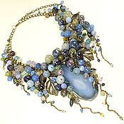 Украшения handmade. Livemaster - original item Sleepy Ocean. necklace made of natural stones. Handmade.