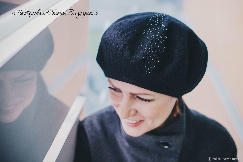 """Женский берет """"Капля дождя"""", Береты, Санкт-Петербург,  Фото №1"""