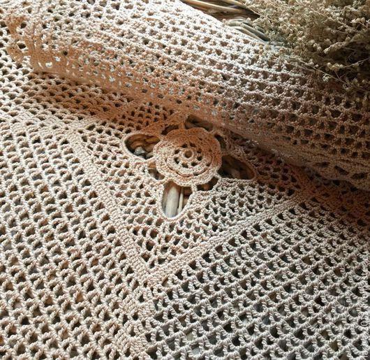 Текстиль, ковры ручной работы. Ярмарка Мастеров - ручная работа. Купить Салфетка бежевая. Handmade. Бежевый, мерсеризованный хлопок