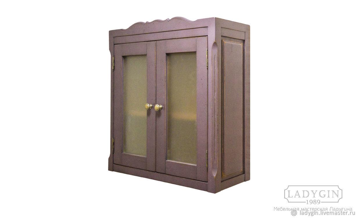 Винтажный навесной двустворчатый шкафчик в стиле прованс, Мебель, Дубна, Фото №1