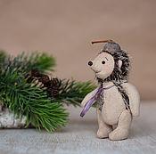 Куклы и игрушки ручной работы. Ярмарка Мастеров - ручная работа Маленький Ежик-Четвероножек Тедди 9см. Handmade.