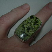 Украшения handmade. Livemaster - original item the elegant ring is serpentine, silver.. Handmade.
