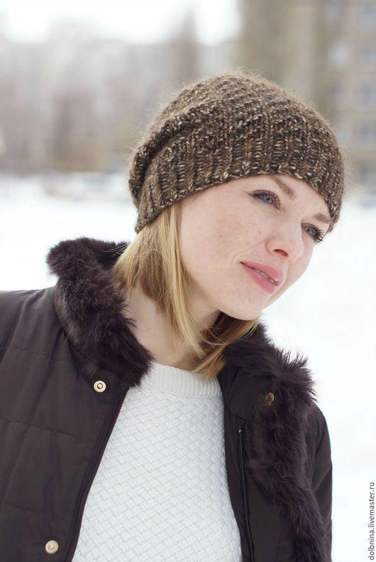 Шапки ручной работы. Ярмарка Мастеров - ручная работа. Купить Зимняя вязаная шапка brown. Handmade. Шапка, мягкая шапка