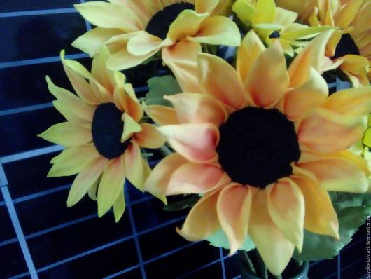 Цветы ручной работы. Ярмарка Мастеров - ручная работа. Купить Цветы интерьерные из фоамирана - Подсолнухи. Handmade. Цветы интерьерные