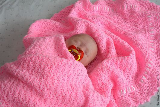 Плед для новорожденного.Ярмарка Мастеров , ручная работа купить.Плед на выписку, одеяло для новорожденного, одеяло на выписку.