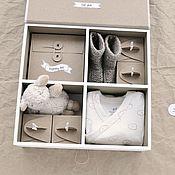 Упаковочная коробка ручной работы. Ярмарка Мастеров - ручная работа Мамины сокровища  бежевый. Handmade.