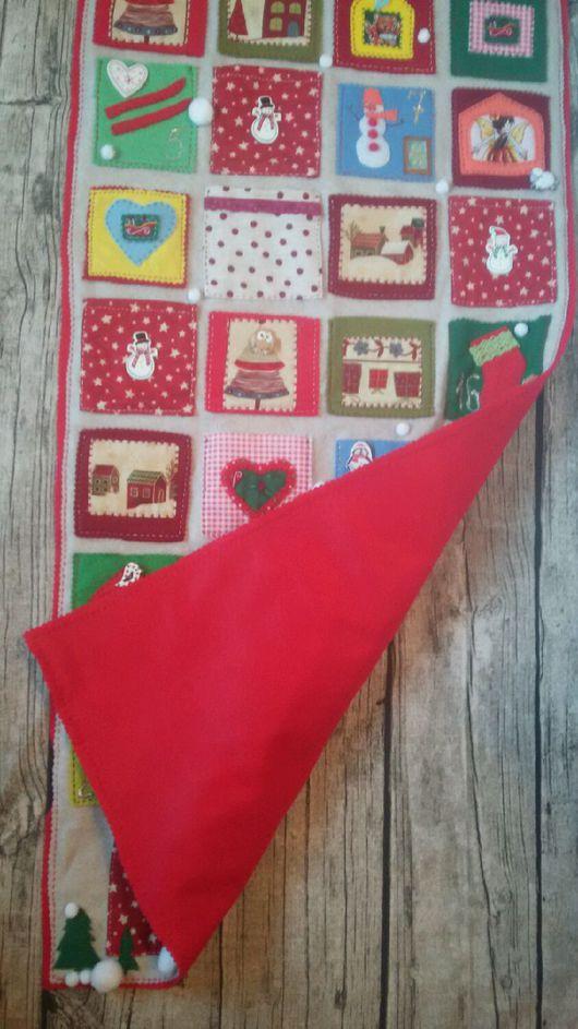 """Детская ручной работы. Ярмарка Мастеров - ручная работа. Купить Новогоднее настенное панно с кармашками """"Праздник в доме""""фетр. Handmade. Комбинированный"""