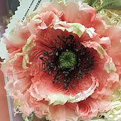 Украшения handmade. Livemaster - original item Silk flowers.Poppy silk