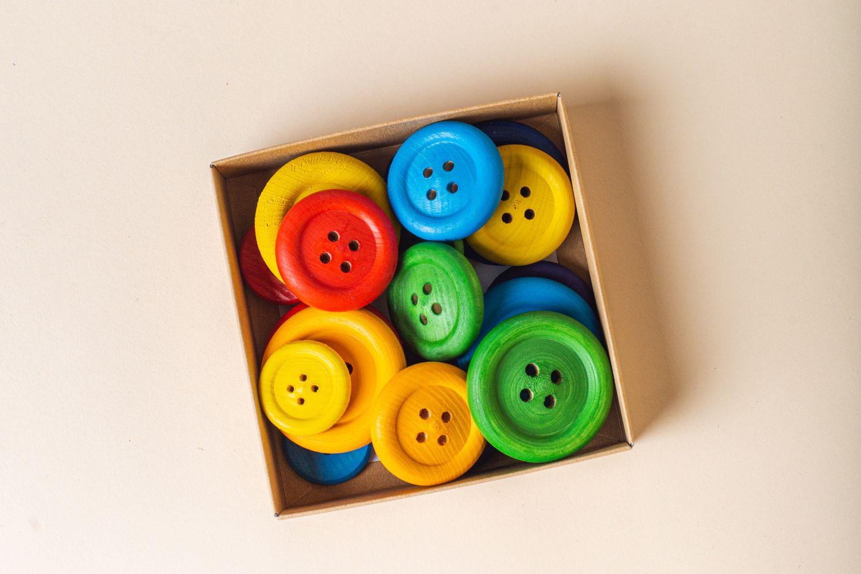 Пуговицы деревянные, Развивающие игрушки, Москва, Фото №1