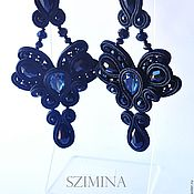 Украшения handmade. Livemaster - original item soutache earrings mental. Handmade.