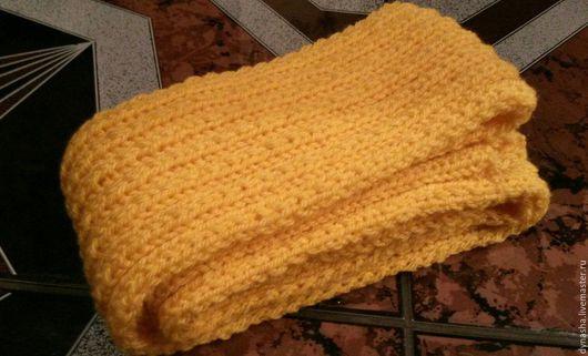 Шарфы и шарфики ручной работы. Ярмарка Мастеров - ручная работа. Купить Шарф вязаный Солнечное счастье. Handmade. Желтый