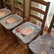 Комплекты аксессуаров для дома ручной работы. Ярмарка Мастеров - ручная работа Сидушки на стулья. Handmade.