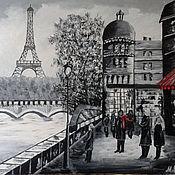 """Картины ручной работы. Ярмарка Мастеров - ручная работа Картина маслом """"Париж"""". Handmade."""