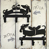 Для дома и интерьера ручной работы. Ярмарка Мастеров - ручная работа Крючки металлические Жорики - обжорики. Handmade.