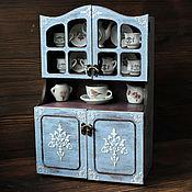 Куклы и игрушки ручной работы. Ярмарка Мастеров - ручная работа Старинный буфет для кукольной посуды. Handmade.