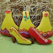 Пряники ручной работы. Ярмарка Мастеров - ручная работа Пряничное платье и туфли. Handmade.