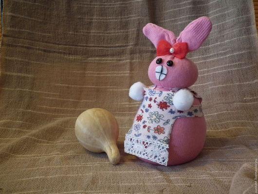 Подарки на Пасху ручной работы. Ярмарка Мастеров - ручная работа. Купить Пасхальная зайка / IVzai4. Handmade. Розовый, хлопок