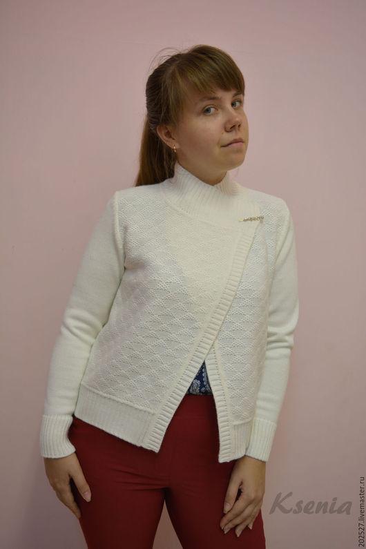 """Кофты и свитера ручной работы. Ярмарка Мастеров - ручная работа. Купить Вязаный жакет """"Оливия"""". Handmade. Белый, эксклюзив, стильно"""