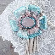 Украшения handmade. Livemaster - original item Brooch with rose quartz