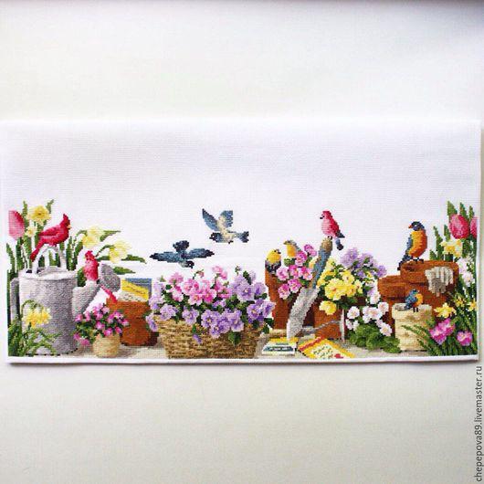 Натюрморт ручной работы. Ярмарка Мастеров - ручная работа. Купить Дачный натюрморт)Вышивка крестиком. Handmade. Комбинированный, Вышивка крестом