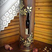 """Короб ручной работы. Ярмарка Мастеров - ручная работа Короб для вина """"Золотая роза"""". Handmade."""
