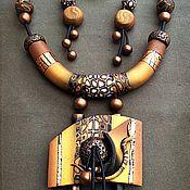 """Украшения ручной работы. Ярмарка Мастеров - ручная работа Комплект """" Африка """". Handmade."""