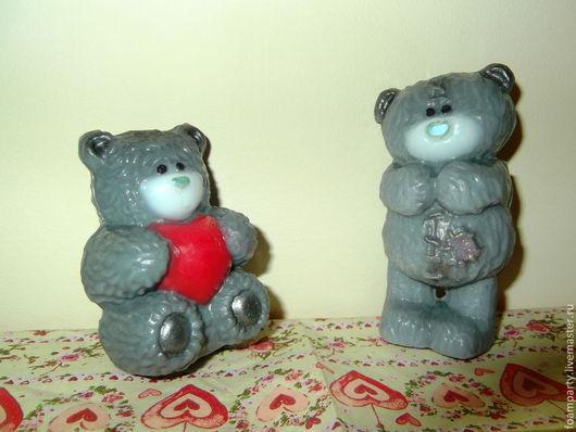 """Мыло ручной работы. Ярмарка Мастеров - ручная работа. Купить Мыло 3D  """"Мишка Тэдди"""". Handmade. Серый, мишка"""