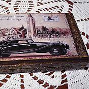 Box handmade. Livemaster - original item Copernica-box for money, decoupage Sold. Handmade.