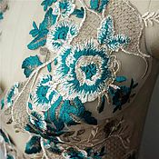 Материалы для творчества handmade. Livemaster - original item Original lace applique, mirror pair. Handmade.