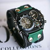 Украшения handmade. Livemaster - original item Brutal Green wrist watch. Handmade.