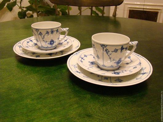 Винтажная посуда. Ярмарка Мастеров - ручная работа. Купить элитный  фарфор Bing and Grеndahl-  фарфоровая  кофейная чашка трио. Handmade.