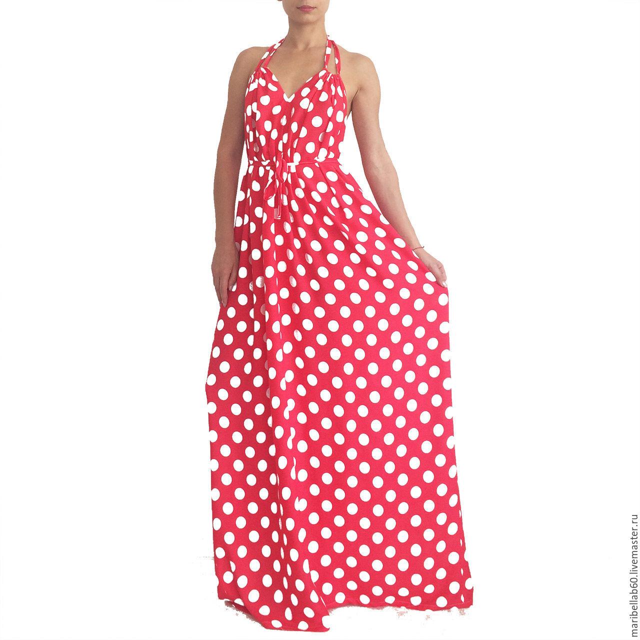 6a9e83975aa Купить Ретро платье в горошек - · Платья ручной работы. Ретро платье в  горошек -