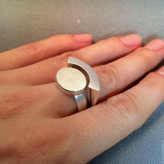 """Кольца ручной работы. Ярмарка Мастеров - ручная работа. Купить серебряный комплект """"Геометрия"""". Handmade. Серебряный, минималистичное кольцо, дуга"""