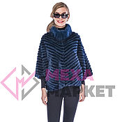 Одежда handmade. Livemaster - original item Mink jacket on knitwear