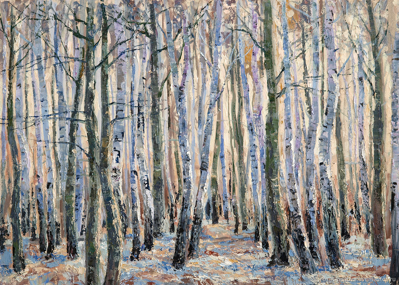 Oil painting Spring chime. Landscape with birches. Painting, Pictures, Magnitogorsk,  Фото №1