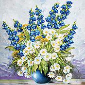 Картины и панно handmade. Livemaster - original item Picture ribbons Bouquet with bells. Handmade.