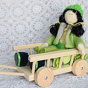 Материалы для творчества ручной работы. Ярмарка Мастеров - ручная работа Тележка для куклы. Handmade.
