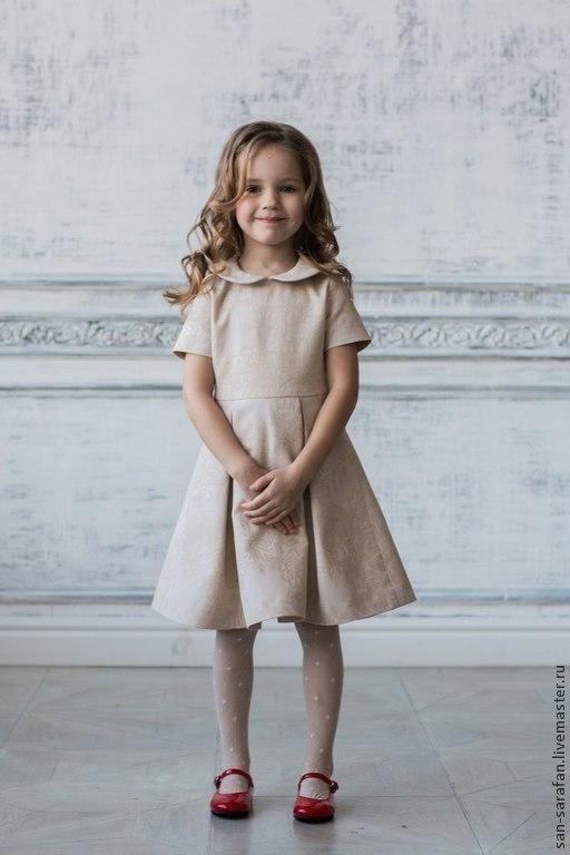 Одежда для девочек, ручной работы. Ярмарка Мастеров - ручная работа. Купить Детское нарядное платье. Handmade. Бежевый, лето 2015