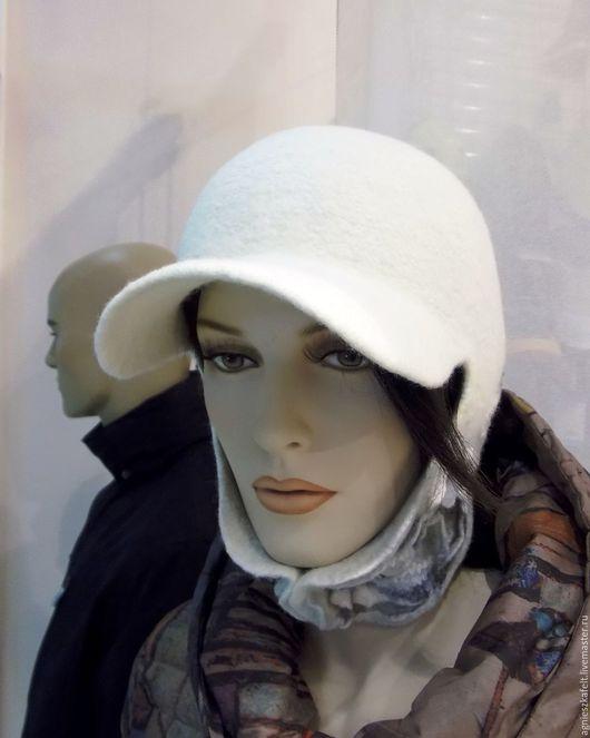 """Шапки ручной работы. Ярмарка Мастеров - ручная работа. Купить Ушанка """"Станция """"Тайга"""". Handmade. Белый, белая шапка"""