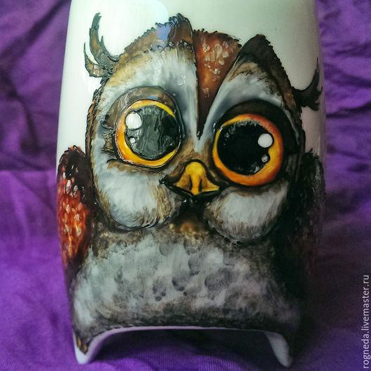 """Кружки и чашки ручной работы. Ярмарка Мастеров - ручная работа. Купить """"Совушка-сова"""" чашка с ножками (0760). Handmade. Комбинированный"""
