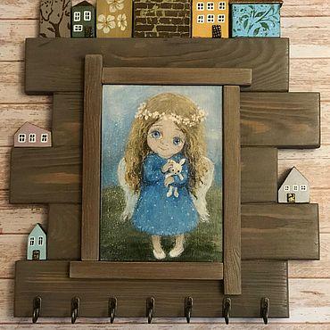 Мебель ручной работы. Ярмарка Мастеров - ручная работа Ключница «Ангел Лета». Handmade.